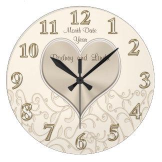 Personnalisé épousant des horloges murales ou