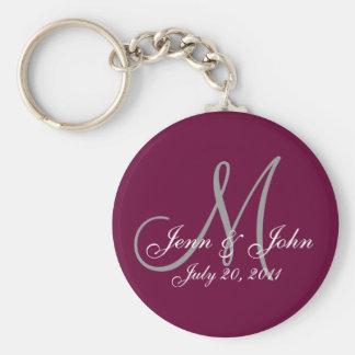 Personnalisé épousant le porte - clé de souvenir porte-clé rond