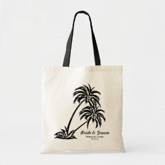 Personnalisé épousant les palmiers du cadeau de la sac