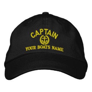 Personnalisé naviguant des capitaines avec l'ancre casquette brodée