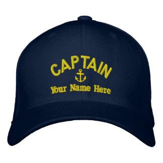 Personnalisé naviguant des capitaines casquette brodée