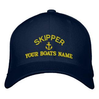 Personnalisé naviguant des capitaines de capitaine casquette brodée