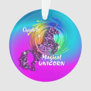 Personnalisé Rainbow Unicorn Cute Girly