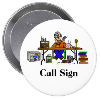 Personnaliser de bouton radio de jambon de vendeur badge