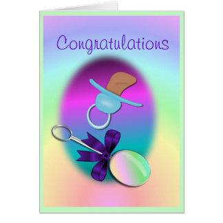 Personnaliser de carte de bébé de félicitations
