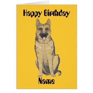 Personnaliser de cartes d'anniversaire de berger