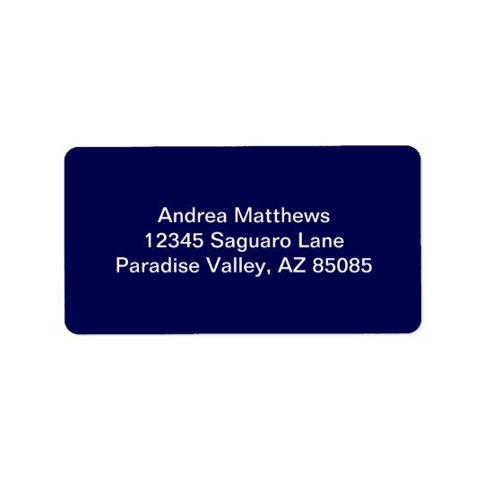 Personnaliser de couleur solide de bleu marine il étiquette d'adresse