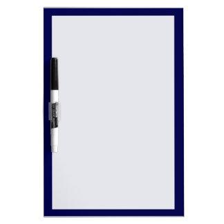 Personnaliser de couleur solide de bleu marine il tableaux effaçables blancs