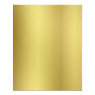 Personnaliser de dos de modèle d'or prospectus 11,4 cm x 14,2 cm