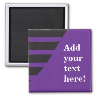 Personnaliser de pourpre et de noir magnet carré