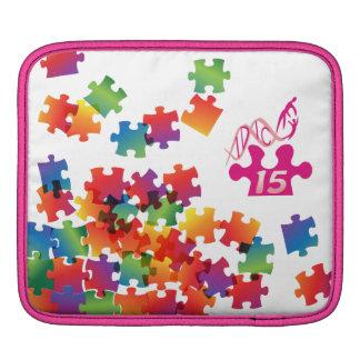 Personnaliser de rose de puzzle d'arc-en-ciel de d poches iPad
