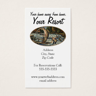 Personnaliser de station de vacances cartes de visite