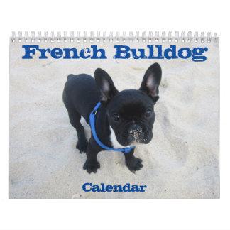 Personnaliser du calendrier 2018 de bouledogue