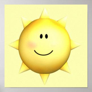 Personnaliser heureuse murale du soleil 11x11 de v