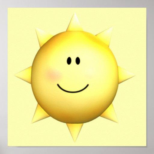 Personnaliser heureuse murale du soleil 11x11 de v posters