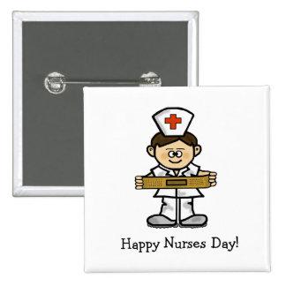 Personnaliser masculine de bouton d'infirmière de  badges