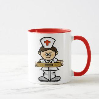 Personnaliser masculine de tasse   d'infirmière il
