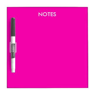 Personnaliser rose au néon de couleur solide il tableau effaçable à sec