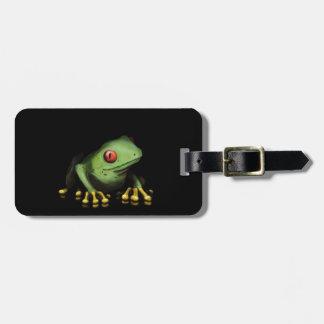 Personnaliser verte de produits de grenouille d'ar étiquette à bagage