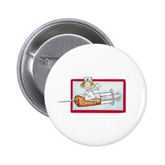 Personnalisez avec le nom - l'infirmière superbe badge rond 5 cm