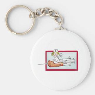 Personnalisez avec le nom - l'infirmière superbe porte-clé rond