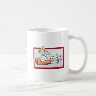 Personnalisez avec le nom - l'infirmière superbe tasse à café