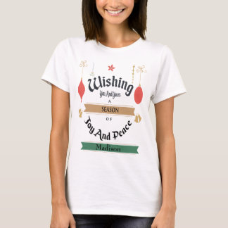 Personnalisez ce T-shirt de salutations de