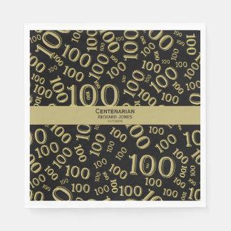 Personnalisez :  Centenarian, 100th thème Serviette En Papier