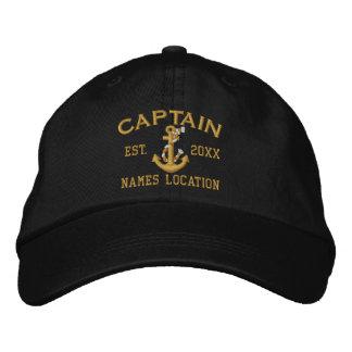 Personnalisez facilement ce capitaine Rope Anchor Casquette Brodée