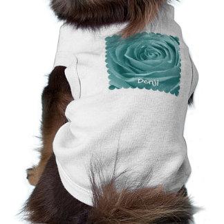 Personnalisez la photographie florale de rose t-shirt pour chien