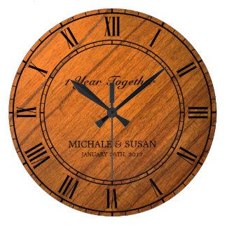 Personnalisez l'anniversaire de mariage (l'arrière grande horloge ronde