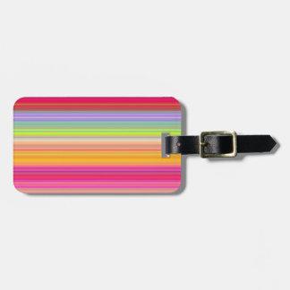 Personnalisez - l'arrière - plan multicolore de étiquette à bagage