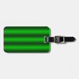 Personnalisez - l'arrière - plan vert de gradient étiquette à bagage