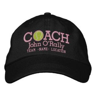 Personnalisez le casquette d'entraîneur de tennis