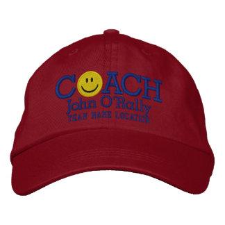 Personnalisez le casquette souriant d'entraîneur