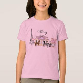 Personnalisez le joli T-shirt de cheval de Paris