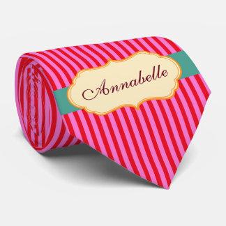 Personnalisez le motif turquoise de rayures de cravate