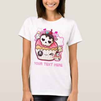 Personnalisez le petit gâteau de crâne de Kawaii T-shirt