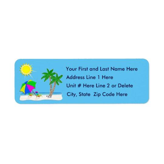 Personnalisez les étiquettes de adresse tropicaux