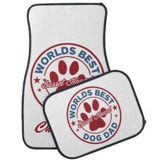 Personnalisez papa de chien des mondes de Basset Tapis De Sol