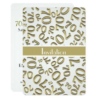 Personnalisez : soixante-dixième Or et fête Carton D'invitation 12,7 Cm X 17,78 Cm