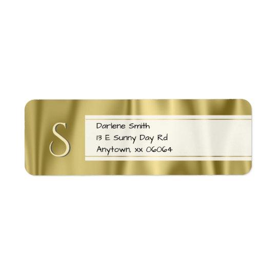 Personnalisez :  Texture de tissu de satin d'or de Étiquette D'adresse Retour