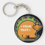 Personnalisez un dinosaure, <YOUR TEXT> Porte-clefs