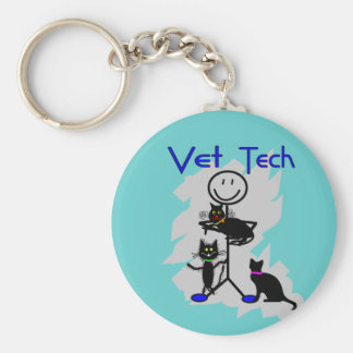 Personne de bâton de technologie de vétérinaire av porte-clef