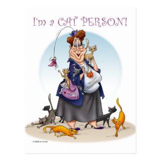 personne de chat cartes postales