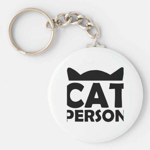 Personne de chat porte-clefs