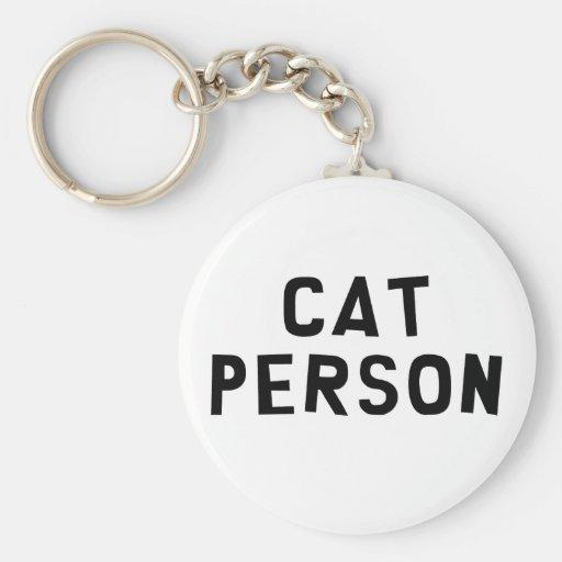Personne de chat porte-clé