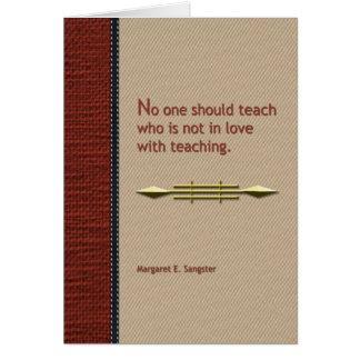 Personne ne devrait enseigner cartes de vœux