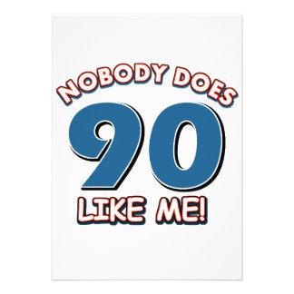 Personne ne fait 90 comme moi invitations