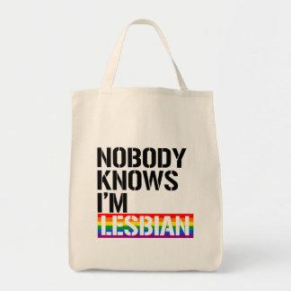 Personne ne sait que j'ai - - raison lesbiennes de sac de toile